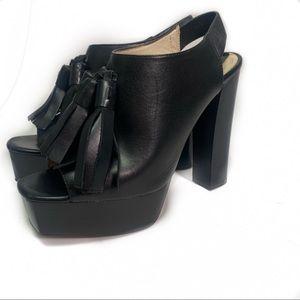 Zara platform black heels